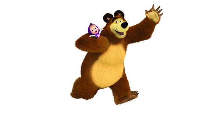 I personaggi di masha e orso ecco orso for Masha e orso stampa e colora